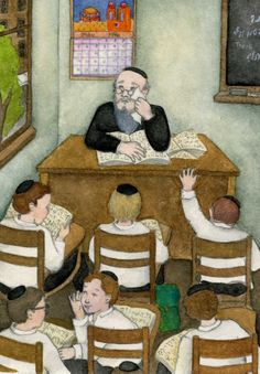 """Rabbi Ehrlich sat beneath a Land of Israel wall calendar compliments of Goldberg's Delicatessen. He stared out the window at the playground between the yeshiva and South Second Street. Without turning his head, he pulled a wadded-up handkerchief from his pants pocket and wiped his eyes. 'The rebbe didn't like the boiled onions we had for lunch,' a guy in the back row said. Rabbi Ehrlich cleared his throat."" From GREENHORN by Anna Olswanger, illus. by Miriam Nerlove. www.greenhornbook.com"