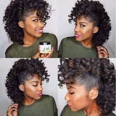 Love this mohawk curly hairstyle