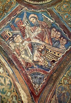 Anagni Italie | Ekron imagined in a medieval fresco illustrating 1 Samuel 5-6 ...