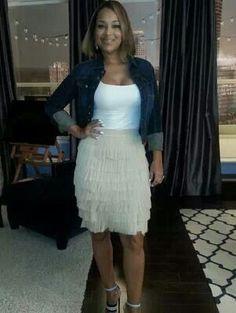 Lisa raye love this skirt