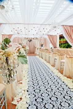 Pink wedding ceremony decor. Jennifer Dery Photography via CeremonyBlog.com (7)