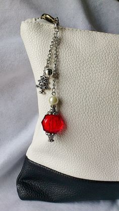 Handmade purse charm / beaded purse charm / by CharmsAnTreasures