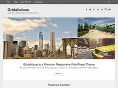Our team designed a Gridalicious theme for anyone who wanting a modern, clean and Grid Base Responsive WordPress Theme.Gridalicious is one of best choice for Blogging theme. The theme support...