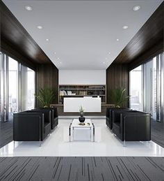 Office Lobby and reception desk