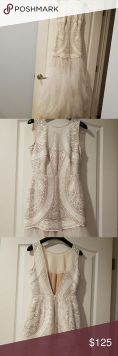 BCBG Dress Worn Once white long dress BCBGMaxAzria Dresses