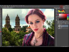 Tutorial Photoshop: Cambiar fondo de un retrato (foto-montaje). - YouTube