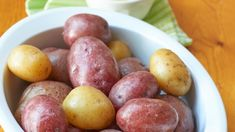 Chef John's deceptively simple recipe for amazingly flavorful Syracuse salt potatoes is always a crowd-pleaser. Potato Recipes, Vegetable Recipes, Great Recipes, Favorite Recipes, Salted Potatoes, Recipe Directions, Vegetable Side Dishes, Side Dish Recipes