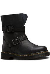 Dr. Martens Women's Kristy Slouch Rigger Leather Fashion Boots