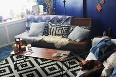 """Nick's """"Bright Navy"""" Room Room for Color Contest"""