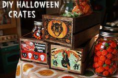 DIY Halloween crates