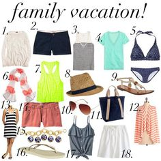 What to Pack - Vacation!