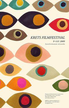 film festival poster design Krets Filmfestival via - posterdesign Illustration Design Graphique, Art Et Illustration, Art Graphique, Poster Design, Book Design, Flyer Design, Typography Design, Lettering, Plakat Design