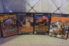 Sony Playstation 2 PS2 Video Game Cabela's Hunting Hunter Bundle Lot of 4 RatedT