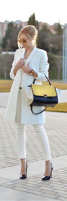 White Blazer By Oh My Vogue