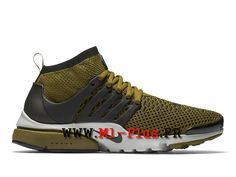 Nike Air Presto Ultra Flyknit Olympic Chaussures de Sports Nike Pas Cher  Pour Homme Flak olive
