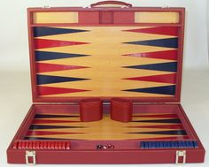 Large size for tournament quality play! Ships FREE Ground Cont U.S. Beautiful burgundy vinyl covered attache. The Game Supply - Burgundy Tournament Backgammon Game Set, $99.95 (http://www.thegamesupply.com/burgundy-tournament-backgammon-game-set/) #tournamentbackgammongset