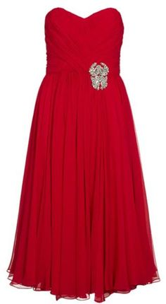 Although I would never pay this much for a dress (even at half off). The dress is simply stunning. Marchesa Strapless Chiffon Dress in Red - Lyst