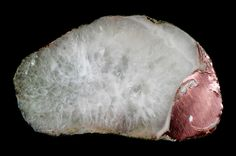 "Large (2"" x 1"") copper agate nodule with a small spot of silver (roughly 5 o'clock)  View on Black"