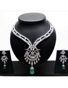 Awesome Green Necklace Set Item code : JVI64