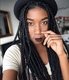 See How To Create Box Braids for Beginners in this simple step-by-step tutorial. This protective style is great for every length of natural hair. Box Braids Hairstyles, Casual Braided Hairstyles, Casual Braids, Trendy Hairstyles, Bob Box Braids Styles, Box Braids Styling, Braid Styles, Braids For Black Women, Braids For Black Hair