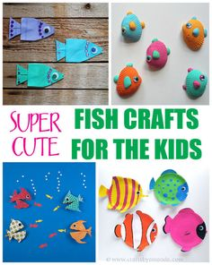 Super cute fish crafts for the kids kid ideas творчество Beach Themed Crafts, Ocean Crafts, Fish Crafts, Diy Crafts For Teen Girls, Crafts For Kids To Make, Craft Activities For Kids, Diy Crafts Videos, Arts And Crafts, Paper Crafts