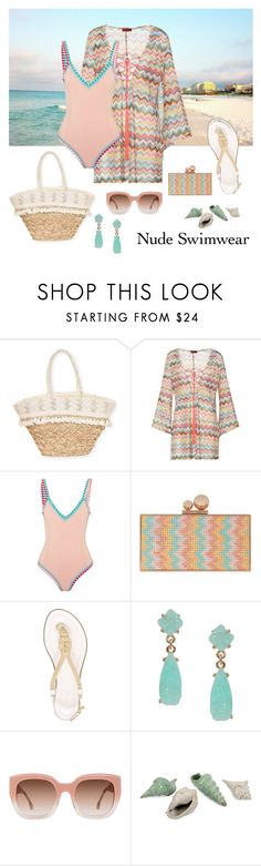 """""""Day at the Beach"""" by debatron ❤ liked on Polyvore featuring Sun N' Sand, Missoni Mare, kiini, Sophia Webster, MICHAEL Michael Kors, Humble Chic, Alice + Olivia and IMAX Corporation"""