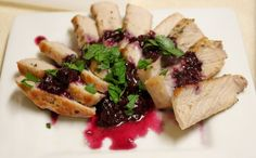 Helen's Pork Chops with Savory Blueberry Sauce — Quick Weeknight Meals Recipe Contest 2009