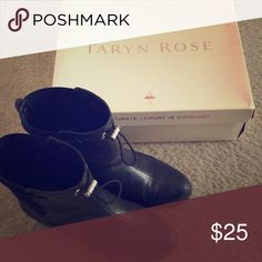 Rain Booties These booties are amazing! Honestly my fave, however the heel of one of them is pretty torn and I am not crafty enough to fix it! Taryn Rose Shoes Winter & Rain Boots