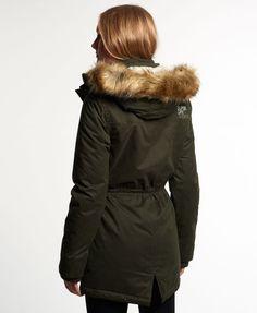 Womens Superdry Microfiber Windparker Jacket size MEDIUM/ UK 12 Black
