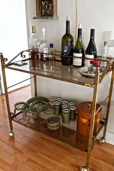 Camarera vintage, Vintage Servierwagen, retro-chic bar cart