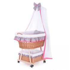 Wiklinowy Kosz do Spania z Baldachimem dla Niej Bassinet, Everything, Children, Bed, Room, Furniture, Design, Home Decor, Young Children