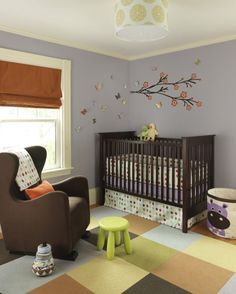 Suzie: Rachel Reider Interiors - Sweet boy's nursery design with lilac purple walls paint ...
