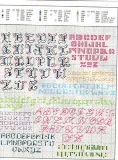 Gallery.ru / Фото #3 - 705 more backstitch alphabets - mornela