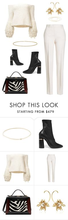 """The Style District"" by jaipickett ❤ liked on Polyvore featuring Jennifer Meyer Jewelry, 3.1 Phillip Lim, Jil Sander, Mulberry, Schield Collection and Anne Sisteron"