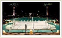 """Dance on Water"" Plexiglass pool cover"