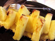 Baked pineapple
