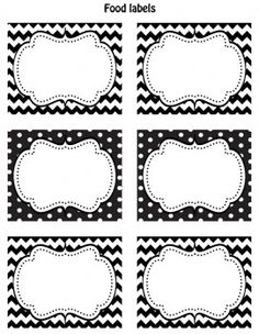 FREE Black & White Printable Labels. Going to use these on my organizing bins that I cannot see directly into.