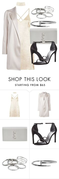 """""""Style #11705"""" by vany-alvarado ❤ liked on Polyvore featuring The Row, Yves Saint Laurent, Stuart Weitzman and Kendra Scott"""