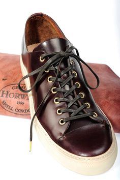 c1872077c Buttero and 14oz Full Horween Leather Tanino Shoes Leather Sneakers,  Converse Leather Shoes, Shoes