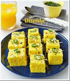 Dhokla-besan-recipe Hmmm, would love to try this but not sure where I would get some of the ingredients or even what they are. lol