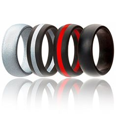 6mm Affordable Silicone Rubber B... Ausdauertraining ROQ Silicone Wedding Ring For Men And Women