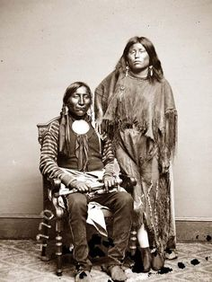 Lone Wolf and his wife Etla (Kiowa)