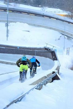 Biking the bobsled track -  photo shoot in the #Winterberg bobsleigh at mountainbike-magazin.de