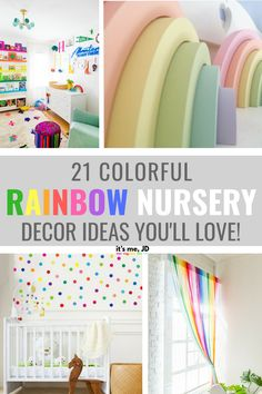 baby girl nursery room ideas 753790056365171796 - 21 Colorful Decor Ideas For A Rainbow Themed Nursery Source by Rainbow Nursery Decor, Rainbow Bedroom, Nursery Themes, Nursery Room, Baby Room, Themed Nursery, Nursery Ideas, Baby Girl Nursery Decor, Rainbow Theme