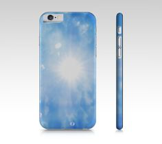 iPhone 6 polycarbon slim fit hard case with Sunshine pattern design on it ___________________________ #iphone #case #skin #sky #clouds #sunshine #sun #blue #ladies #women #texture #nature #fashion #print #pattern #polycarbon