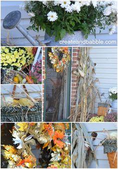 Fall Front Porch #createandbabble