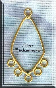 Copper Fancy Chandelier Earring Findings (2) | Jewelry Connectors ...