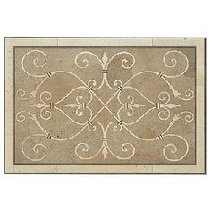 """medalion for kitchen...unfortunately it's 34 x 51. I'd love to turn it the other direction, but it will still be too big for the 30"""" behind my backsplash."""