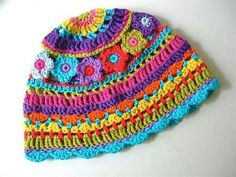 Sewing Crafts For Children Crochet For Children: Colorful Hat - Free Pattern Crochet Beanie, Knit Or Crochet, Crochet For Kids, Crochet Crafts, Yarn Crafts, Crochet Stitches, Crochet Projects, Knitted Hats, Sewing Crafts