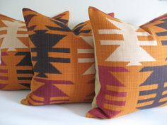 Pillow Cover Kilim Navajo Tribal Harvest Ready to Ship. $42.00, via Etsy.